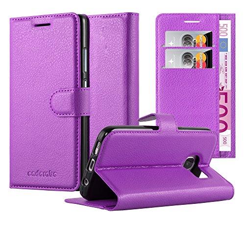 Cadorabo Funda Libro para Samsung Galaxy S6 Edge en Violeta DE MANGANESO - Cubierta Proteccíon con Cierre Magnético, Tarjetero y Función de Suporte - Etui Case Cover Carcasa