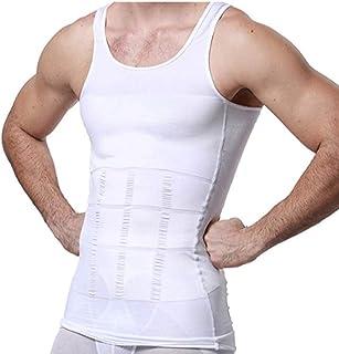 GKVNE Body Shapewear Mens Slimming Body Shaper Vest Shirt Abs Abdomen Slim Tank Top Compression Shirt Shapewear Slimming Vest for Men
