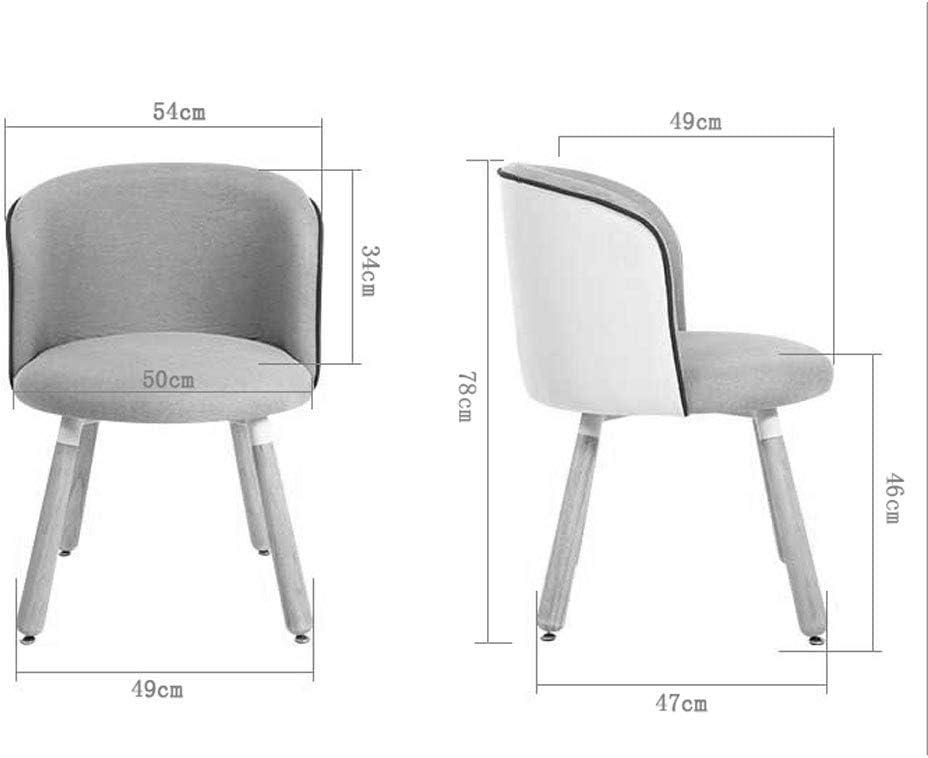 WDX- Chaise en bois massif Chaise de salle à manger Chaise de salon Chaise d'ordinateur Dessert Shop Table à manger Chaise simple Moderne mode (Color : F) D