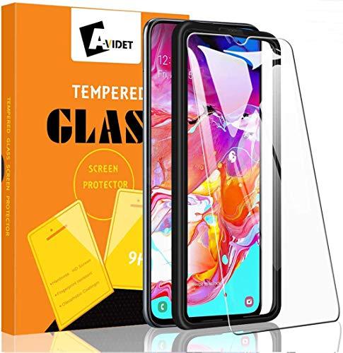 A-VIDET 3 Pezzi Vetro Temperato Samsung Galaxy A70, Premium 9H Durezza AntiGraffio Senza Bolle Vetro Temperato Screen Protector per Samsung Galaxy A70