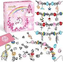Lenski Mädchen Geschenke 4-11 Jahre - Charm Armband Kit DIY, Mädchen Geschenke für Mädchen, Adventskalender 2021 Kinder...