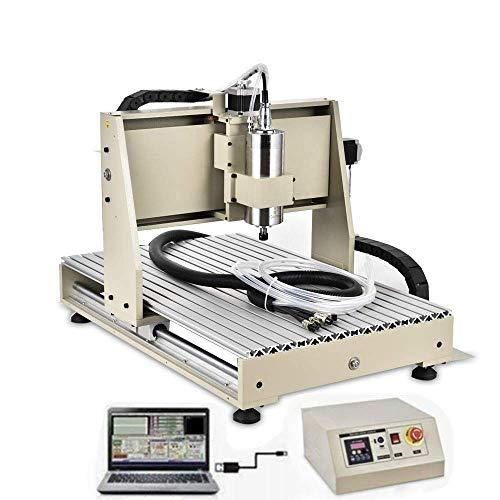 DNYSYSJ 1500W CNC Router Engraver, 6040 3Axis USB Engraving Drilling Milling Carving Machine 3D Carving Desktop Machine DIY Artwork Woodworking