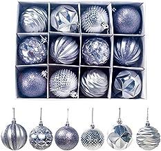 YTXTT Bola de árvore de Natal, pingentes de bola de brilho à prova de estilhaçamento, ornamentos de decoração para festa d...