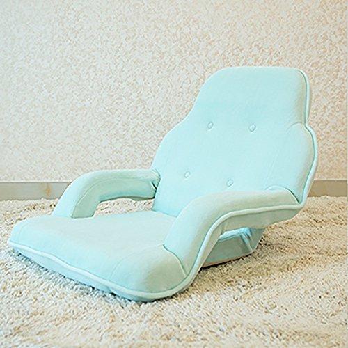 L-R-S-F Canapé Paresseux Avec Accoudoirs Pliable Unique Grand Canapé Chaise D'ordinateur Balcon Avec Canapé (Couleur : Bleu)