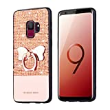Tifightgo Samsung S9 Case with Stand,Rose Gold Bling Shiny Rhinestone Soft TPU Silicone Case Protection Cover Bumper Case for Samsung Galaxy S9 with Bow Ring Bracket