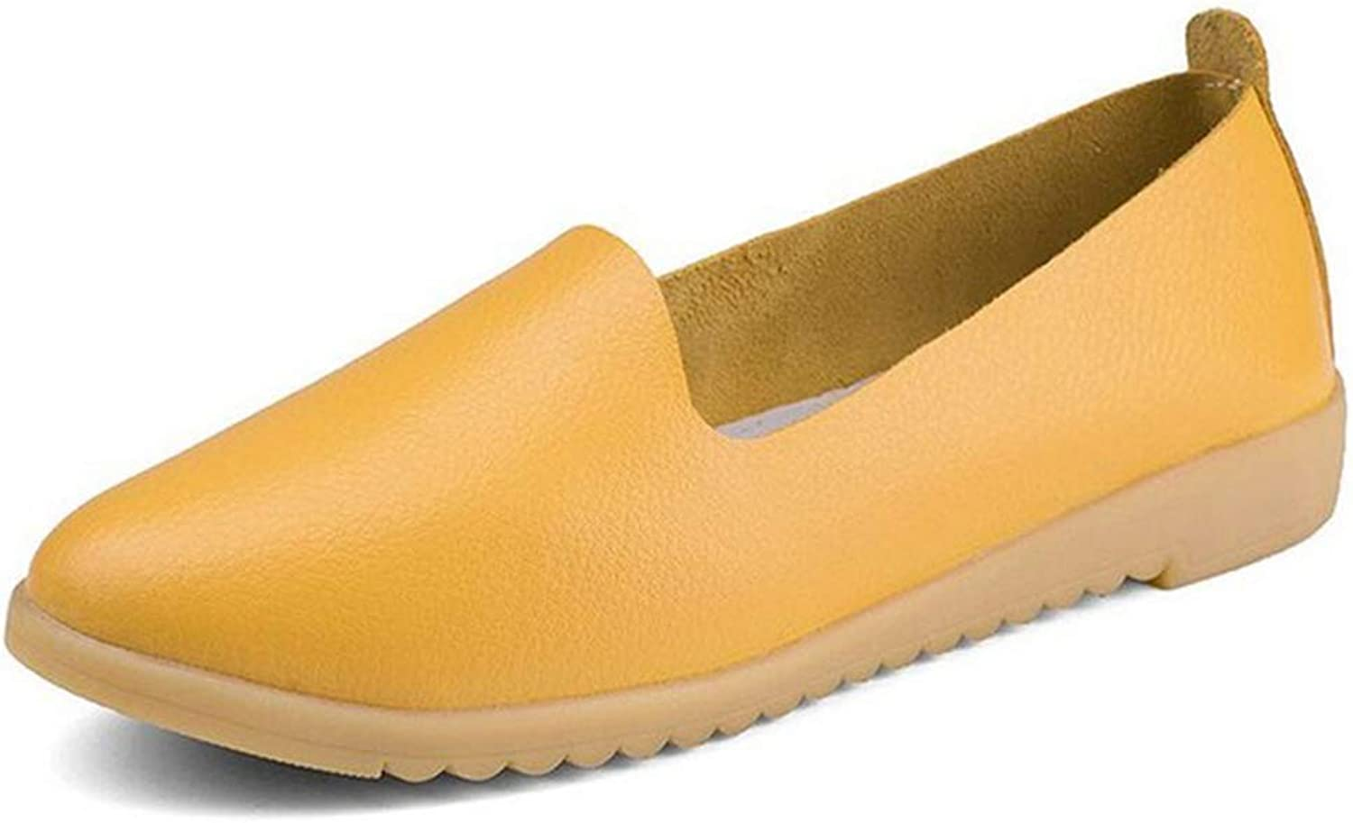 JOYBI Women's Penny Lafers Pointed Toe Non-Slip Thick Rubber Sole Simple Style Lightweight Moccasins Soft Comfort Walking Office Casual Flats Sneakers