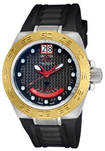 Men's Invicta 10883 Subaqua Sport Collection Swiss Carbon Fiber Dial Silicone Watch