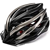 KINGBIKE 自転車 ヘルメット 大人用 ロードバイク サイクリング ヘルメット 超軽量 高剛性 LEDライト・ヘルメットレインカバー付き 男女兼用 56-60CM M/L