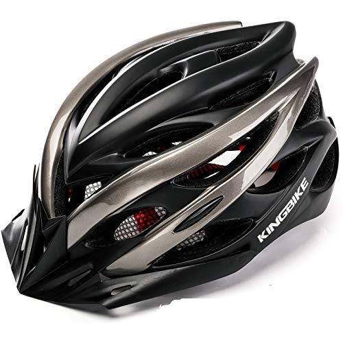 KING BIKE Fahrradhelm Helm Bike Fahrrad Radhelm mit LED Licht FüR Herren Damen Helmet Auf Die Helme Sportartikel Fahrradhelme GmbH RennräDer Mountain Schale Mountainbike MTB XL(59-62CM