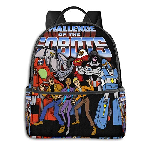 IUBBKI Anime & Gobots - Cast - Logo Student School Bag School Cycling Leisure Travel Camping Outdoor Backpack