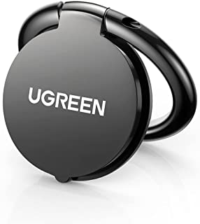 UGREEN Phone Ring Holder, Mobile Grip, 360 Degree Rotation Mobile Phone Finger Kickstand with Polished Metal Compatible wi...