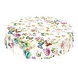 ANRO Wachstuchtischdecke Wachstuch Wachstischdecke Tischdecke Schmetterlinge Wiese Blumen Beige 100 x 140cm - 6