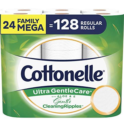 Cottonelle Ultra Gentlecare Toilet Paper, 24 Family Mega Rolls