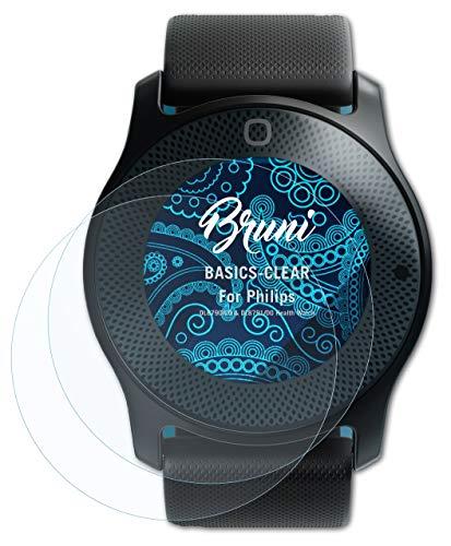 Bruni Schutzfolie kompatibel mit Philips DL8790/00 und DL8791/00 Health Watch Folie, glasklare Bildschirmschutzfolie (2X)