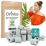 orinko - 30 microesferas de cerámica EM® - Mejora la calidad del agua - Reduce la cal - Apto para lavadora y para 2 decantadores, botellas, calabazas, cafetera, hervidores