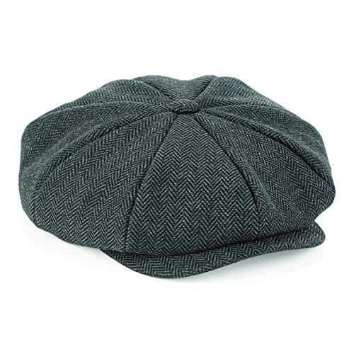 Peaky Blinders Herren Flache Schirmmütze Vintage Herringbone Hat