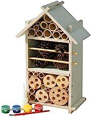 Luxus-Insektenhotels Hoteles de Insecto de Lujo, Kit de casa de Insecto, práctico Sistema de Clavija Incluye Cola para Madera