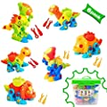 Dinosaur Toys Take Apart Toys With Tools (218 pieces) - Pack of 6 Dinosaurs With 12 Tools And a Beautiful Container - Stem Toys for Boys & Girls Age 3 - 12 years old