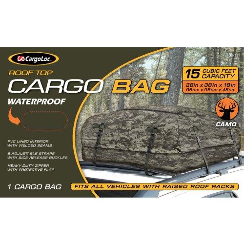 CargoLoc 32429 Camo Roof Top Cargo Bag, 15-Cubit Feet, 38-Inch x 38-Inch x 18-Inch