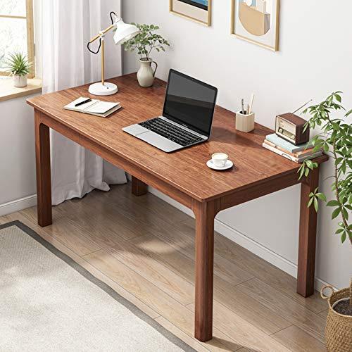 Desk Escritorio de Oficina en casa de Madera Maciza, Escritorio para Laptop para Estudiantes con 2 cajones de Almacenamiento, Escritorio de Estudio de Banco de Trabajo Minimalista Moderno