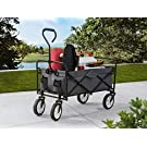 S2 Lifestyle Brazee Collapsible Folding Wagon Cart with Wheels, Gray