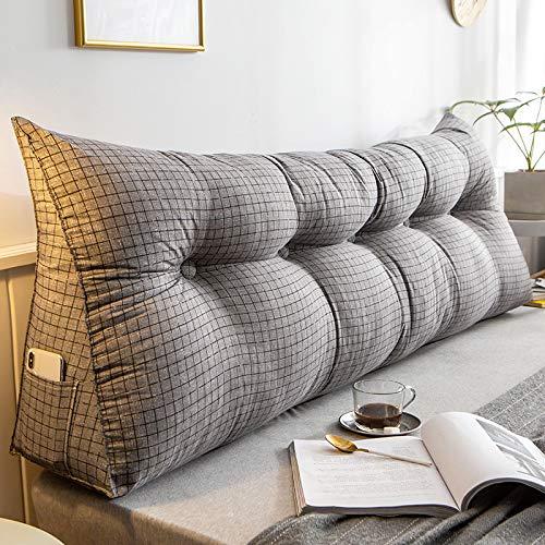YLBH Cojín para mesita de noche, respaldo grande, cama de tatami, cabecera simple, paquete suave, cojín de respaldo, cojín triangular, doble 200 x 50 cm b
