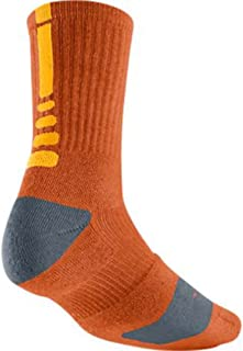 Elite Lebron James Basketball Crew Socks Large (Size 8-12) Orange, Orange