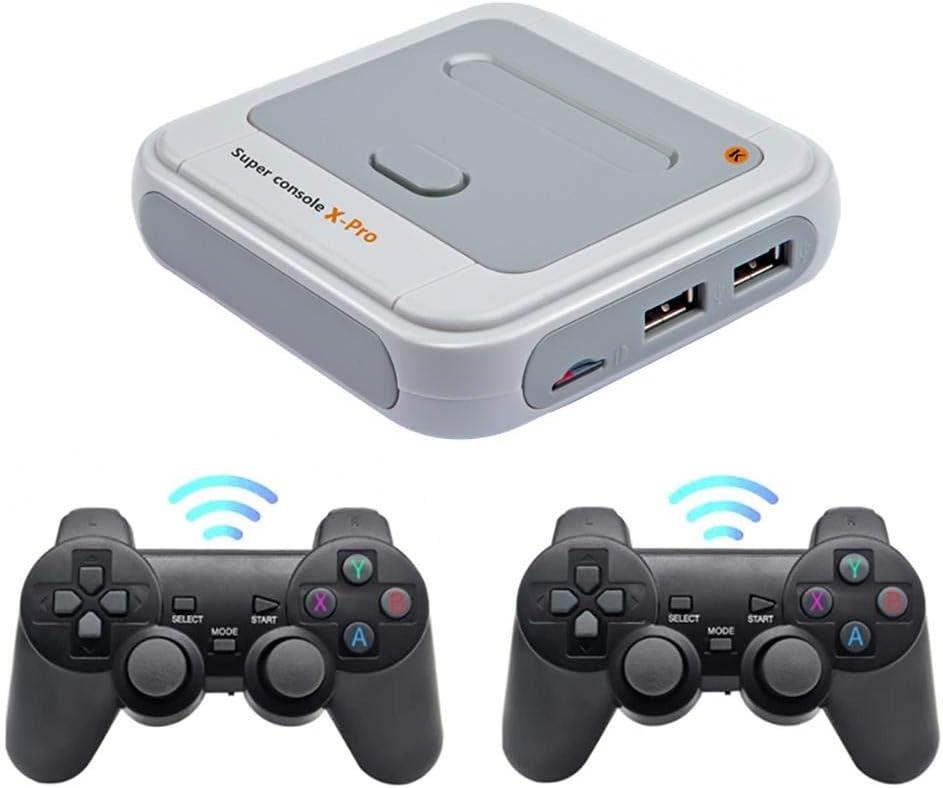 Klassische Spielekonsole Unterst/ützung Ps1 // N64 // Dc Spiele Drahtloser Mini-TV-Videospiel-Player 4K HD HDMI-Ausgang Eingebaute 50+ Emulatoren 5000 J-ouuo Retro-Spielekonsole