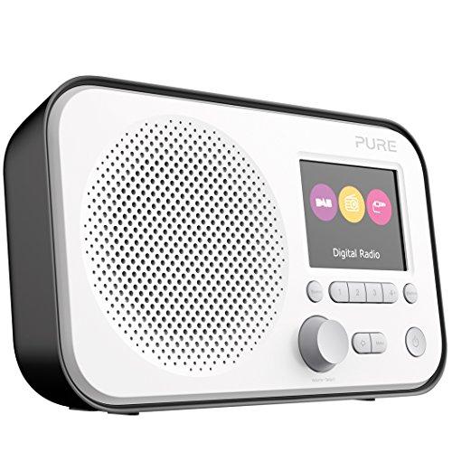 Pure Elan E3 Digitalradio (DAB/DAB+ Digital und UKW-Radio mit Weckfunktionen, Kchen- und Sleep-Timer, 2,8-Zoll-TFT-Farbdisplay, 40 Senderspeicherpl?tze), Schwarz, VL-62956
