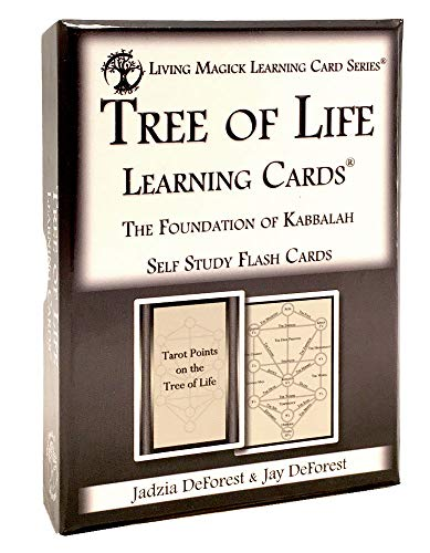 Living Magick Tree of Life / Kabbalah Learning Cards Learning Card Series - Self Study Flash Cards