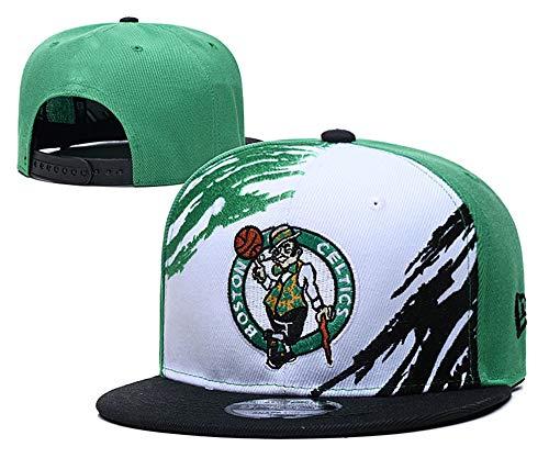 Boston Celtics Men's Basketball Embroidered Retro SNAP Shot Snapback Adjustable Hat Cap Green Style 3