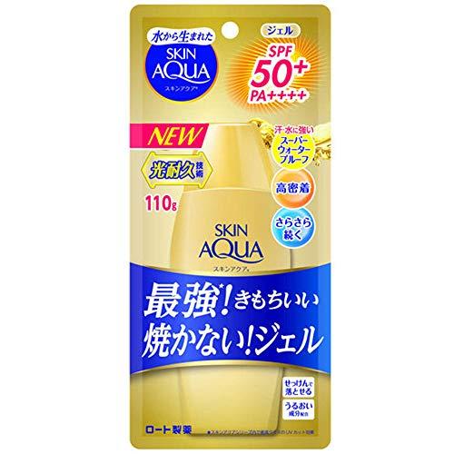 Skin Aqua Rohto Newer Model Super Moisture Gel 110g - Gold - SPF50+/PA++++ (Green Tea Set)