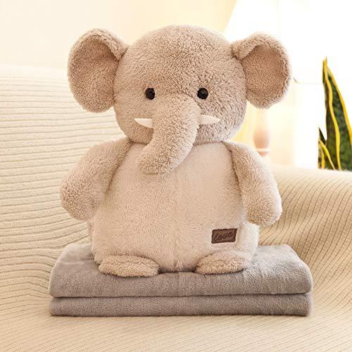 Creative Air Conditioner Knuffel Pop Meisje Verjaardagscadeau Pop Om te slapen Met poppen 35 cm hoge deken 80 * 110 cm Olifant