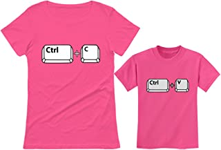 Mom & Her Girl/Boy Copy Paste Matching Set Mother & Daughter/Son T-Shirts