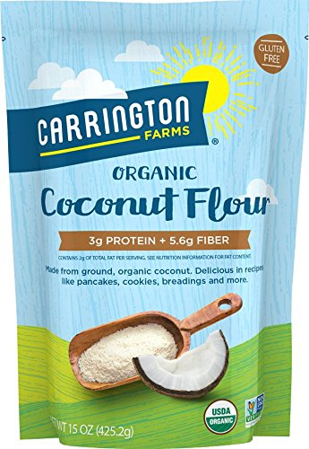 Carrington Farms Organic Coconut Flour, Gluten Free, High in Fiber, 15 Ounce