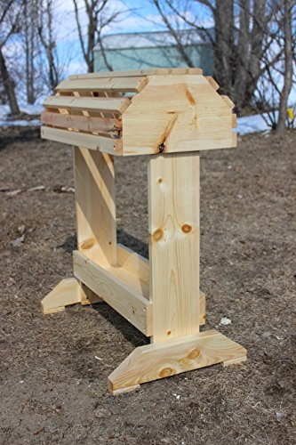 Rustic Wooden Pine Saddle Rack W/Tray