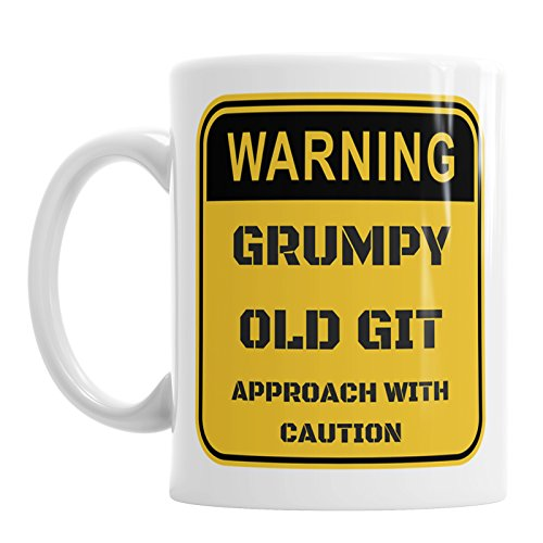 Warning Grumpy Old Git Approach with Caution Novelty Coffee Mug...