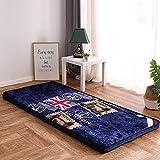 HM&DX Franela Colchón futon, Acolchado Suave Japonés Tradicional Colchón Sofa Cama Dormir Tatami de Piso para Alcoba Dormitorio-D 90x190cm(35x75inch)