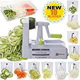 Best Spiralizers - Brieftons 10-Blade Spiralizer: Strongest-and-Heaviest Vegetable Spiral Slicer, Best Review