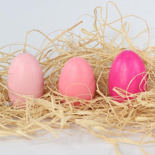 Uovo di Pasqua, vera soffiato oche uova per Oster nido Pasqua, 12 Box, assortiti in 3 diversi colori coprenti, Rosa