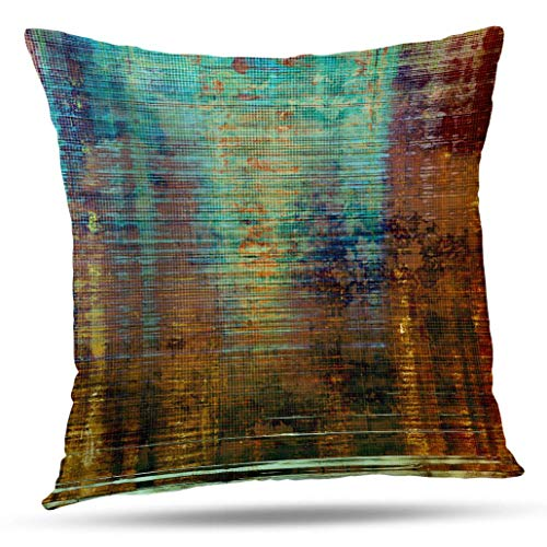 Soopat Antique Brown Pillowcase 16X16 Decorativepillows Cover,2 Sides Printed Antique Frame Grunge Different Color Yellow Beige Brown Green Blue Gray Red Orange Throw Pillow Cases Home Decor
