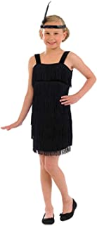Kids 20s Flapper Girl Costumes Childrens 1920s Decades Party Fringed Dresses