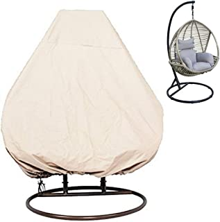 KIKIGOAL Outdoor Patio Hanging Chair Cover Wicker Egg Swing Chair Covers Heavy Duty Water Resistant (232203cm/91 80