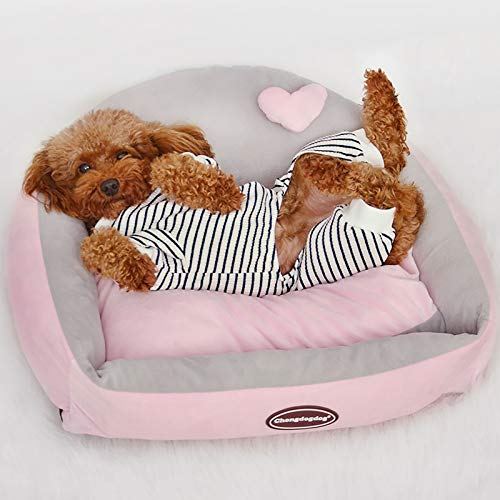 GCP Dog Beds Washable with Zipper Cover,Warm Dog Basket with Reversible Cushion Machine Washable Comfort Dog Bed Pad