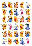 30 x Winnie The Pooh Party STAND UP Edible Paper Cupcake Toppers Cake Decorations