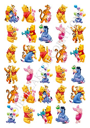 30 x Winnie The Pooh Party Stand up Essbare Papier Cupcake Topper Kuchen Dekorationen