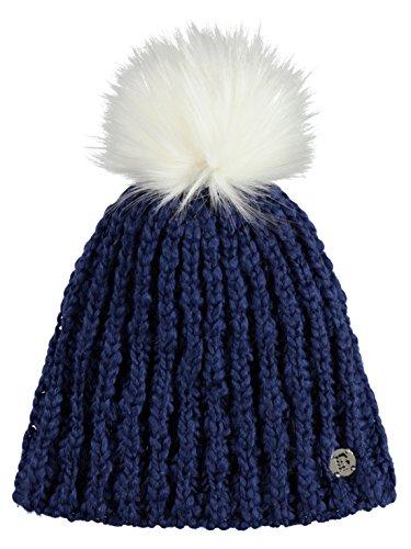 Bench Damen Wintermützen Turn Up Bobble blau Einheitsgröße
