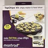 Mastrad Top Chips Maker and Slicer (1 Silicone non-stick tray+ 1 Mini Mandoline Slicer + 1 Safety Hand Holder)