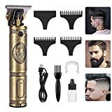 Le Touch T-Blade Trimmer - Professional Close 0mm Cutting Zero Gapped Detail Beard Shaver Barbershop Hair Clippers for Men, Cordless Rechargeable Pro Li Outliner Grooming Kits