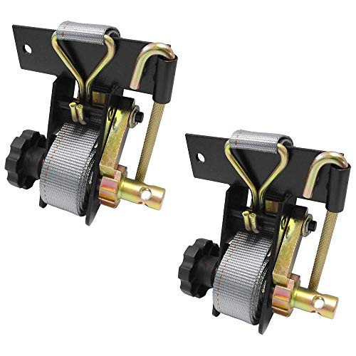 Pair Of Ladder Rack Ratchet Tie-Down Straps Square Mount Replaces Buyers 5480005